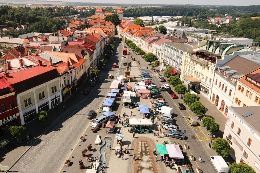 Mlada Boleslav Marktplatz